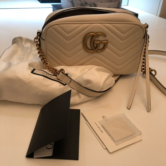 Gucci Bags White Small Camera Bag Poshmark